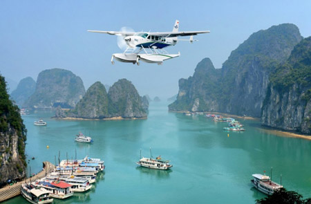 Halong Bay Tour by Helicopter - 1 Day